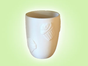 "Keramik zuhausemalen.de | Cupcake Relif Becher <span style=""font-size: 10px"">(Farbgröße M)</span> Tassen&Becher"