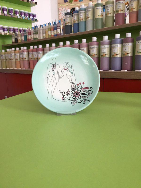 "Keramik zuhausemalen.de | Serie Teller flach 20 <span style=""font-size: 10px"">(Farbgröße M)</span> Teller"