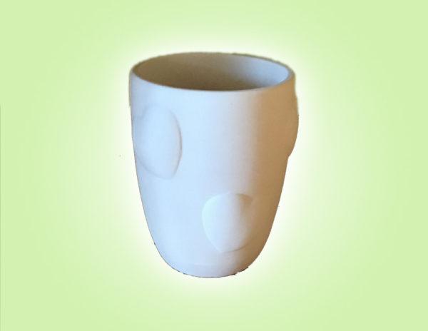 """Keramik zuhausemalen.de   Herz Relief Becher <span style=""""font-size: 10px"""">(Farbgröße M)</span> Muttertag"""