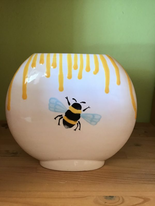 "Keramik zuhausemalen.de | Vase Diskus <span style=""font-size: 10px"">(Farbgröße L)</span> Vasen"