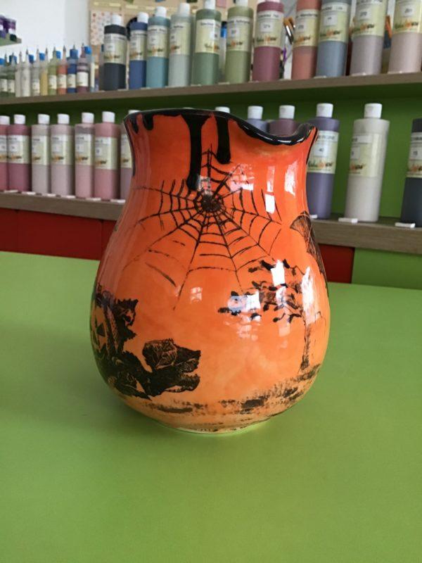 "Keramik zuhausemalen.de | Krug bauchig 1Liter <span style=""font-size: 10px"">(Farbgröße L)</span> Krüge & Kannen"