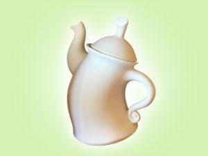 Keramik zuhausemalen.de | Tanzende Teekanne (Farbgröße XL) Krüge & Kannen