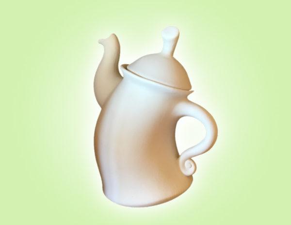 Keramik zuhausemalen.de   Tanzende Teekanne (Farbgröße XL) Krüge & Kannen