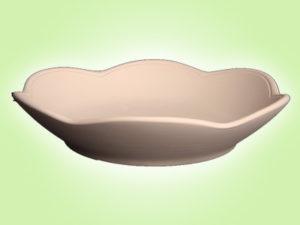 Keramik zuhausemalen.de | Flower Power Suppenteller (Farbgröße L) Teller