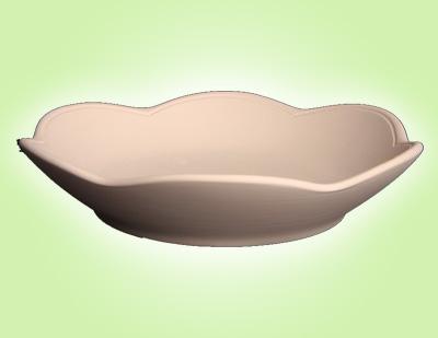 Keramik zuhausemalen.de   Flower Power Suppenteller (Farbgröße L) Teller