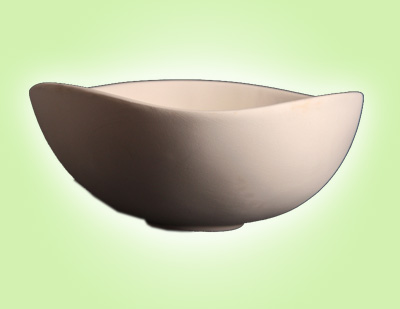 "Keramik zuhausemalen.de | Schale dreieck <span style=""font-size: 10px"">(Farbgröße M)</span> Schüsseln&Schalen"