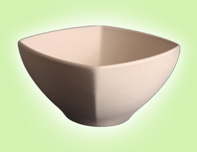 """Keramik zuhausemalen.de   Schale viereckig <span style=""""font-size: 10px"""">(Farbgröße M)</span> Schüsseln&Schalen"""