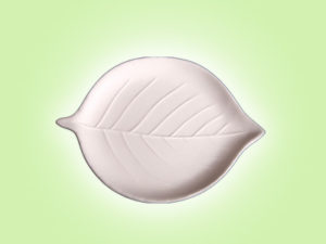 "Keramik zuhausemalen.de | Teller Blatt <span style=""font-size: 10px"">(Farbgröße S)</span> Teller"