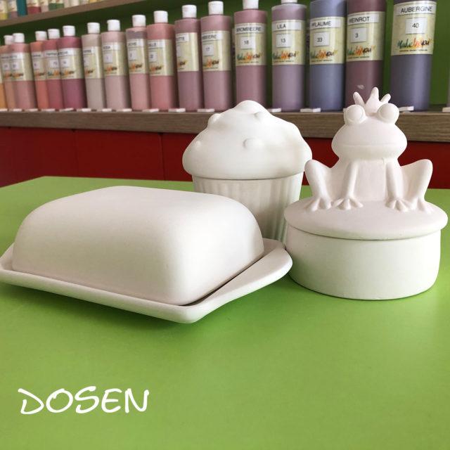 Dosen – Keramik selbst (zuhause) bemalen