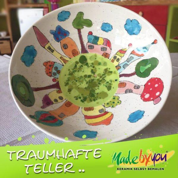 "Keramik zuhausemalen.de   Nasch Schale <span style=""font-size: 10px"">(Farbgröße M)</span> Schüsseln&Schalen"