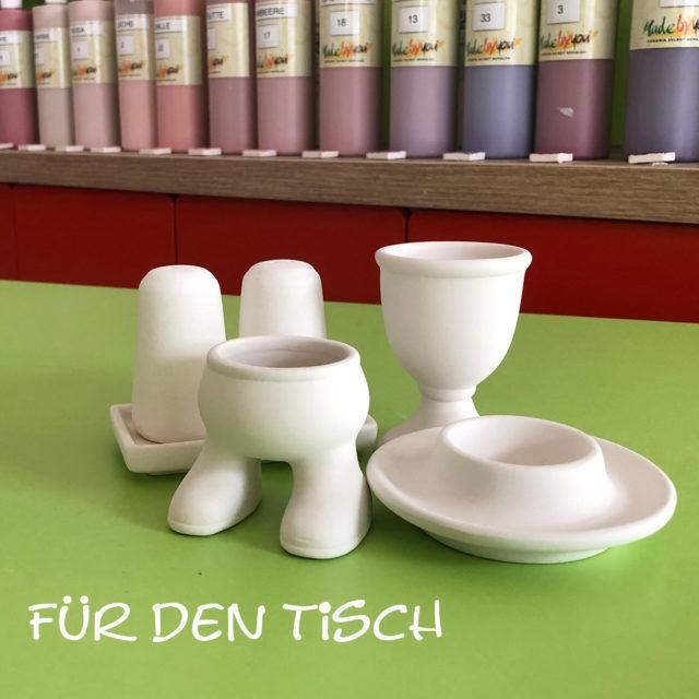 Für den Tisch – Keramik selbst (zuhause) bemalen