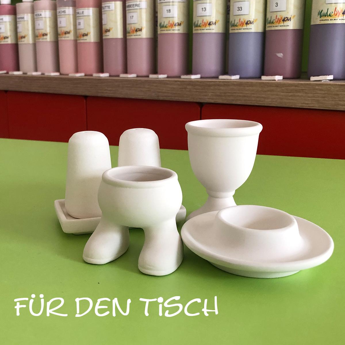 Keramik zum bemalen für den Tisch