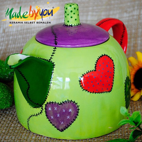 Keramik zuhausemalen.de | Holzstiel-Stempel Schmetterling Motiv 7 Schablonen & Stempel