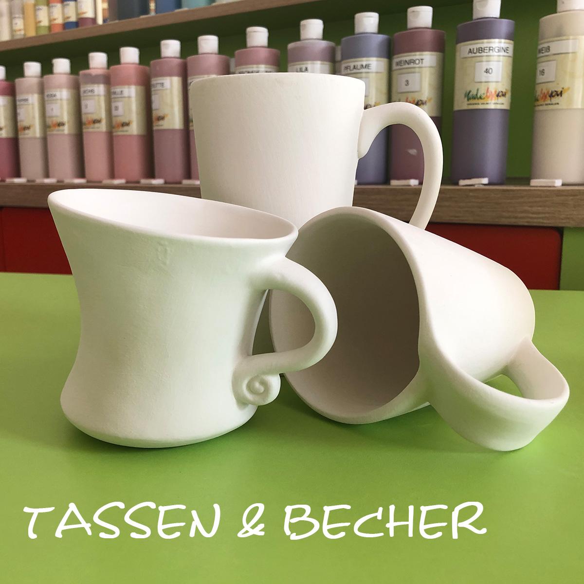 Keramik zum bemalen Tassen und Becher