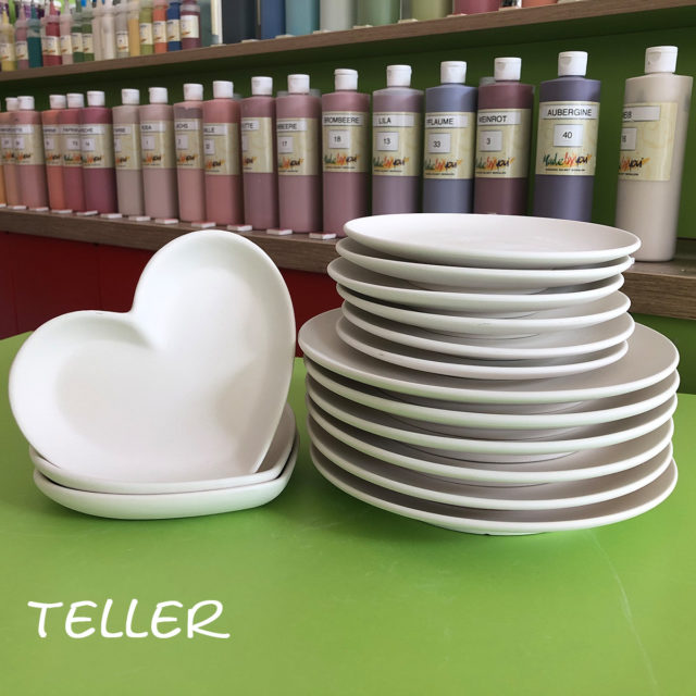 Teller – Keramik selbst (zuhause) bemalen
