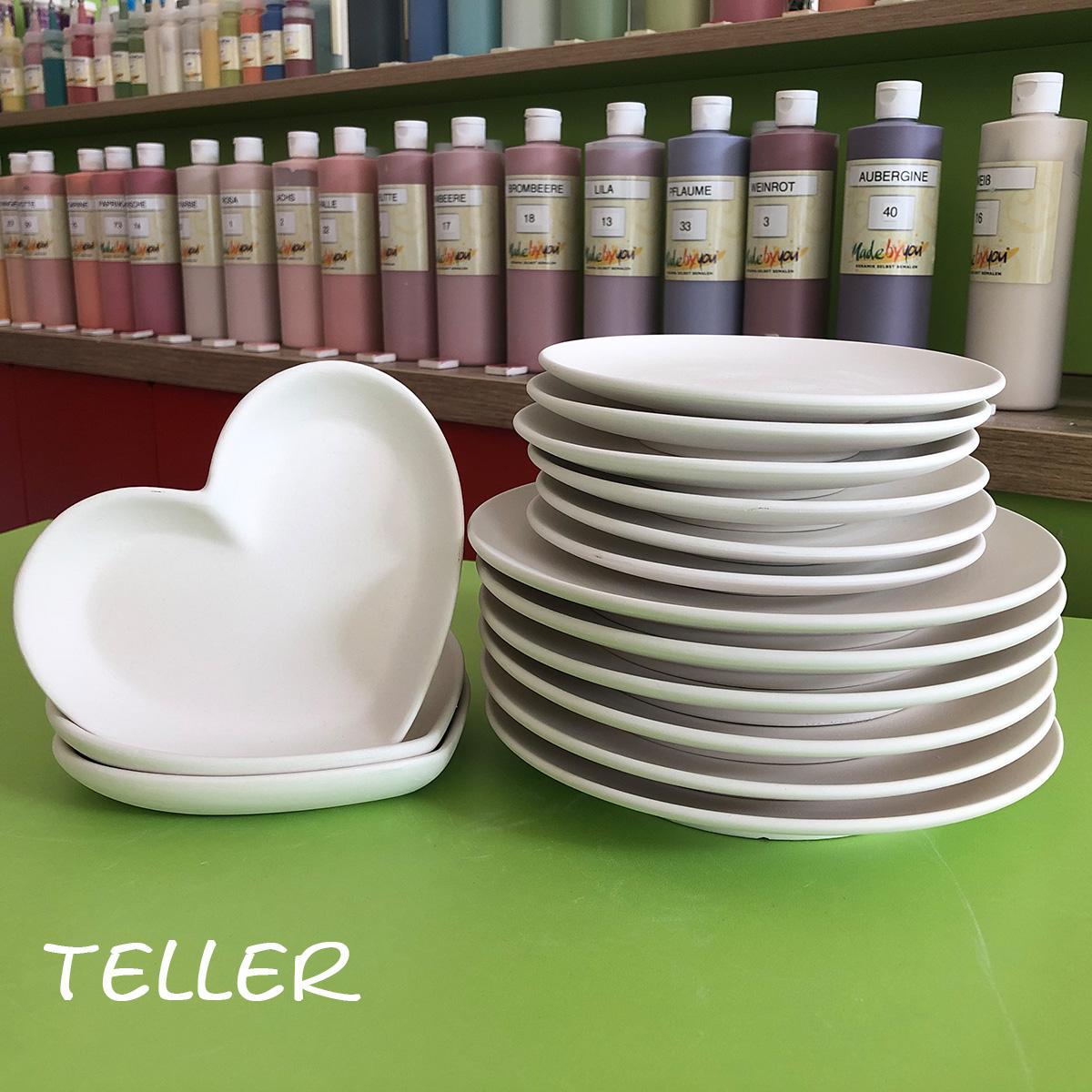 Keramik zum bemalen Teller