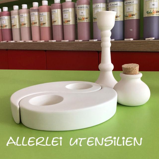 Allerlei Utensilien- Keramik selbst (zuhause) bemalen