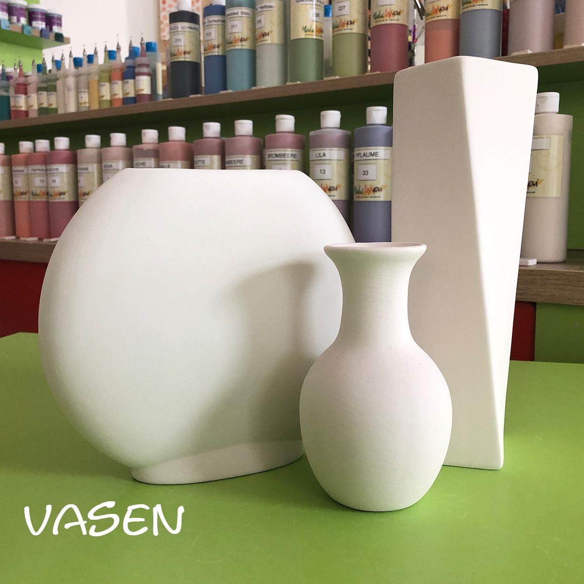 Keramik zum bemalen Vasen
