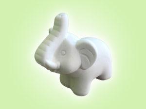 Keramik zuhausemalen.de | Baby  Elefant (Farbgröße S) Figuren