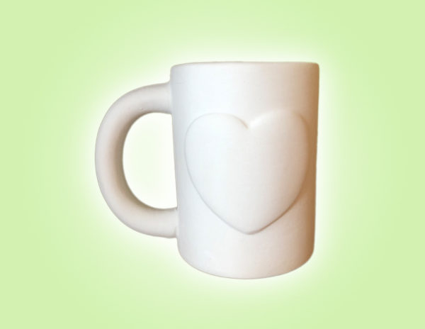 "Keramik zuhausemalen.de | Herzbecher <span style=""font-size: 10px"">(Farbgröße M)</span> Muttertag"