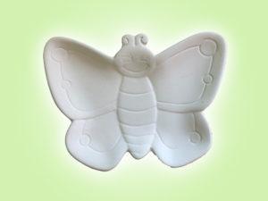 Keramik zuhausemalen.de | Schmetterlings Tellerchen (Farbgröße S) Für den Tisch