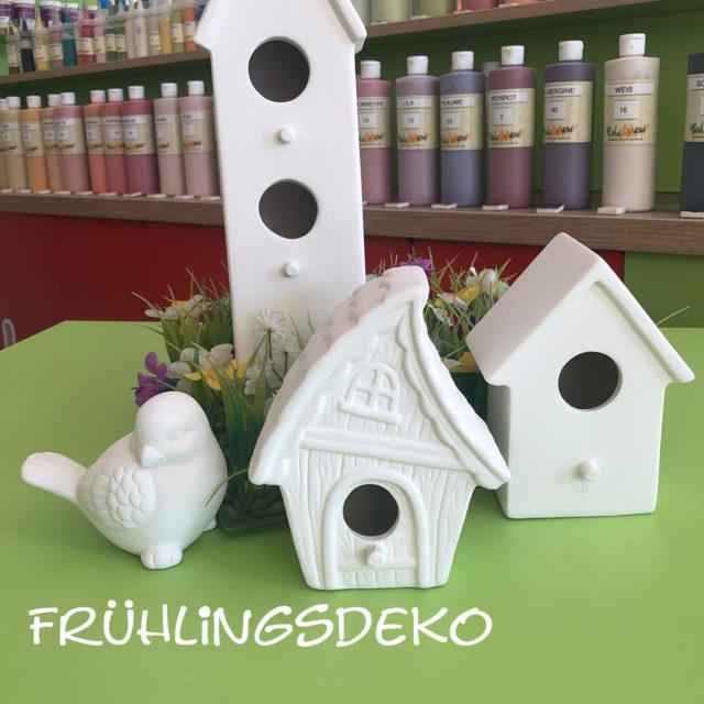 Frühlingsdeko – Keramik selbst (zuhause) bemalen