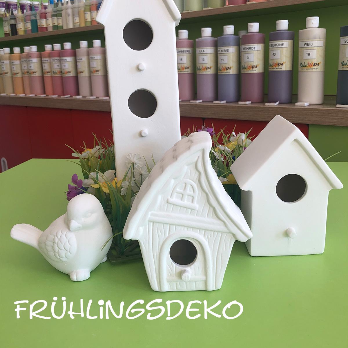 Keramik zum bemalen für die Frühlingsdeko