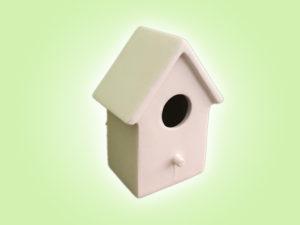 Keramik zuhausemalen.de | Vogelhaus klein (Farbgröße M) Frühlingsdeko