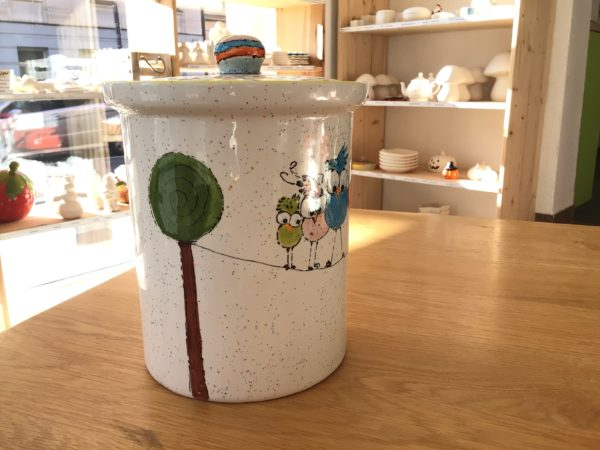 Keramik zuhausemalen.de | Retro Dose Large (Farbgröße L) Dosen