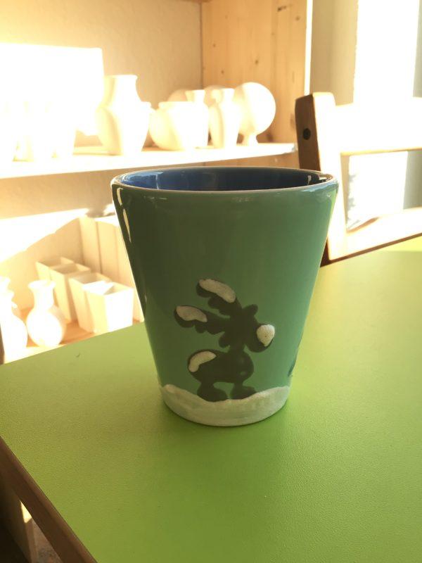 "Keramik zuhausemalen.de   Becher Kegel <span style=""font-size: 10px"">/ Stiftehalter(Farbgröße M)</span> Tassen&Becher"