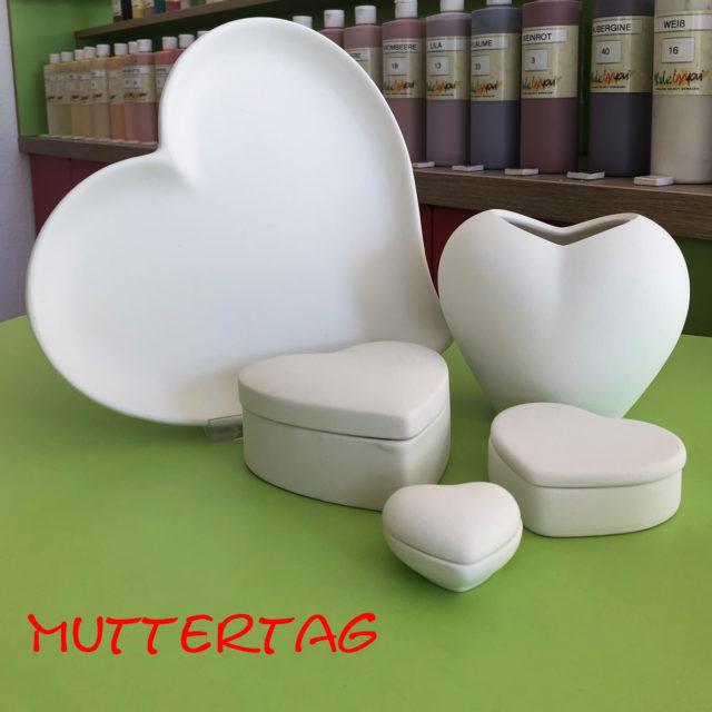 Muttertag – Keramik selbst (zuhause) bemalen