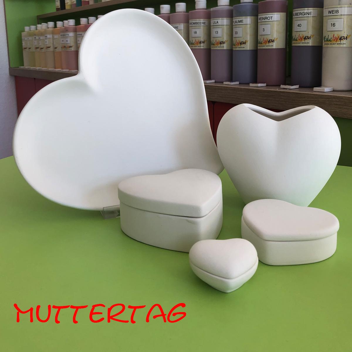 Keramik zum bemalen für Muttertag