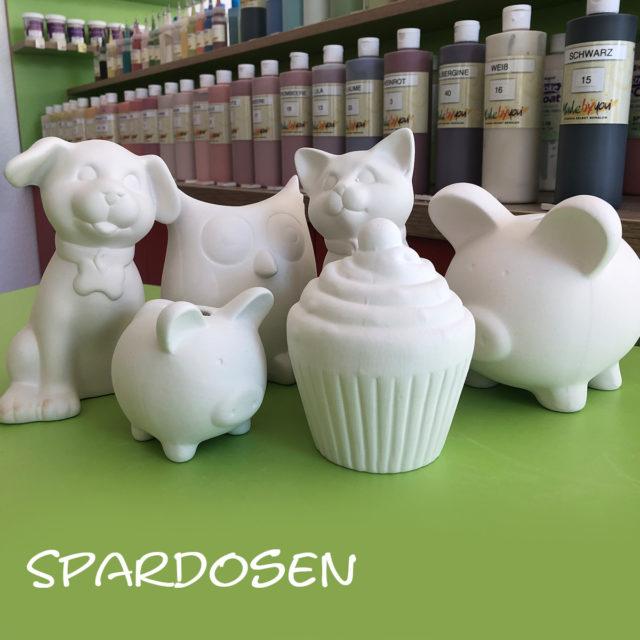 Spardosen – Keramik selbst (zuhause) bemalen