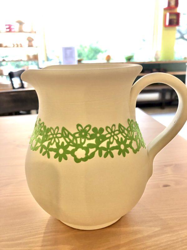 Keramik zuhausemalen.de | Klebebordüre Herzen BOR1 Pinsel und Malzubehör