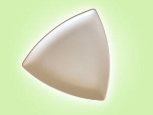 "Keramik zuhausemalen.de | Trigon dreieckiger Teller klein <span style=""font-size: 10px"">(Farbgröße M)</span> Teller"