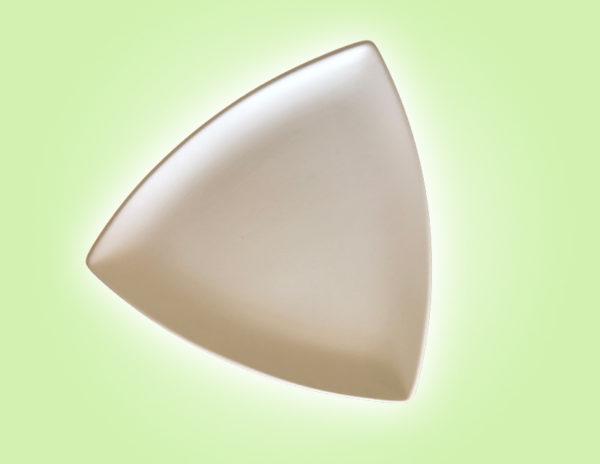 "Keramik zuhausemalen.de | Trigon dreieckiger Teller groß <span style=""font-size: 10px"">(Farbgröße L)</span> Teller"