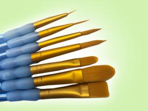 Keramik zuhausemalen.de | Pinsel Spar-Set (7 teilig) Pinsel und Malzubehör