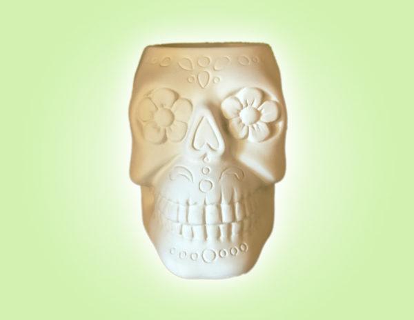 Keramik zuhausemalen.de | Skelett Becher (Farbgröße M Herbst&Halloween