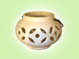 Keramik zuhausemalen.de | Kleines Windlicht rund( Farbgröße S) Allerlei Utensilien