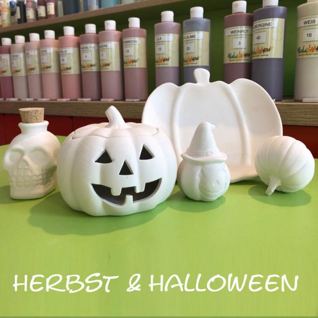 Herbst & Halloween – Keramik selbst (zuhause) bemalen