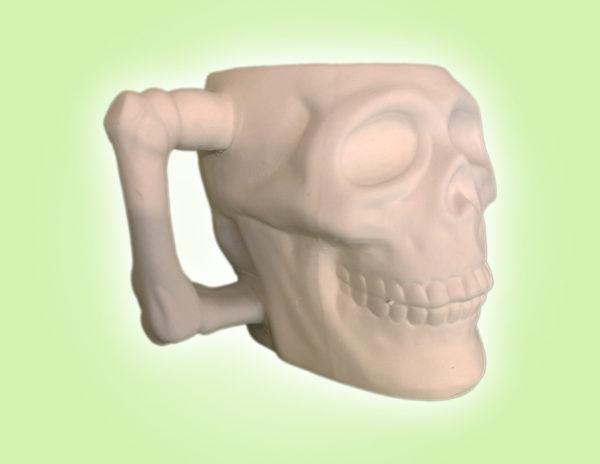 "Keramik zuhausemalen.de | Totenkopf Becher <span style=""font-size: 10px"">(Farbgröße M)</span> Herbst&Halloween"