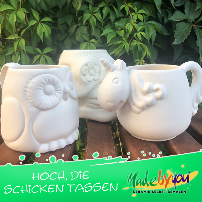 "Keramik zuhausemalen.de | Becher Kegel <span style=""font-size: 10px"">/ Stiftehalter(Farbgröße M)</span> Tassen&Becher"