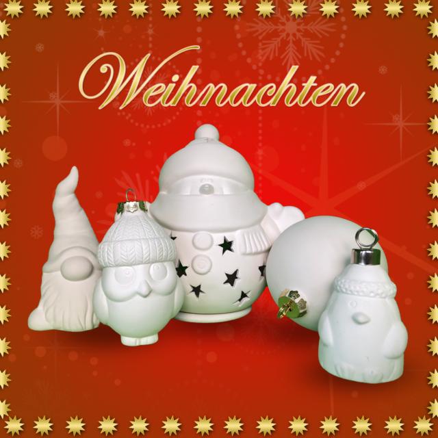 Weihnachten – Keramik selbst (zuhause) bemalen