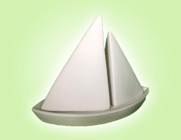 Keramik zuhausemalen.de | Salz/Pfefferstreuer  Boot (Farbgröße S) Für den Tisch