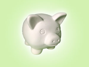 Keramik zuhausemalen.de | Mini Schweinchen ( Farbgröße S) Figuren