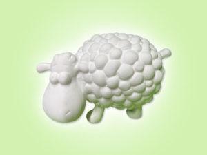 Keramik zuhausemalen.de | Flauschi das Schaf (Farbegröße S) Figuren