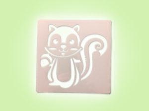 Keramik zuhausemalen.de | Schablone Streifen-/Eichhörnchen 13 × 13 cm Schablonen & Stempel
