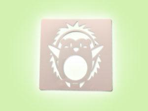 Keramik zuhausemalen.de | Schablone Igel 13 × 13 cm Schablonen & Stempel