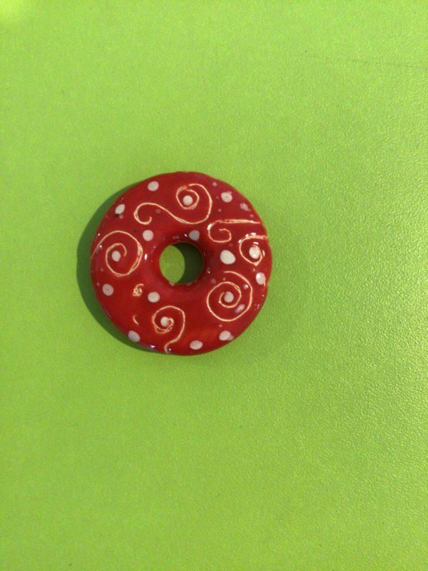"""Keramik zuhausemalen.de   Ketten Anhänger Donut  Ø4 cm <span style=""""font-size: 10px"""">(Farbgröße XXS)</span> Perlen & Anhänger"""
