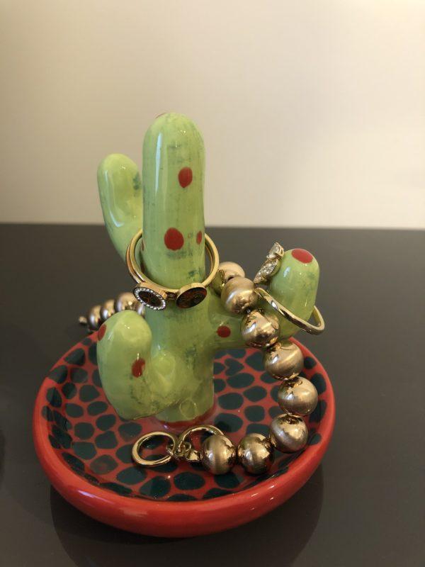 "Keramik zuhausemalen.de | Ringhalter Kaktus Höhe 10cm <span style=""font-size: 10px"">(Farbgröße S)</span> Allerlei Utensilien"